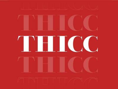 Thicc vector type type design red serif font serif thick heavy bold font bold typography vector lettering