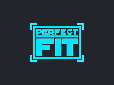 Perfect Fit geometric sans serif sans sans-serif blue type design typography vector lettering
