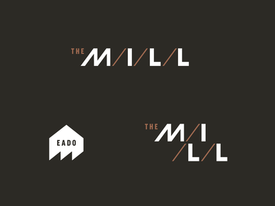 The Mill typography branding real estate logo saw mill real estate houston east end