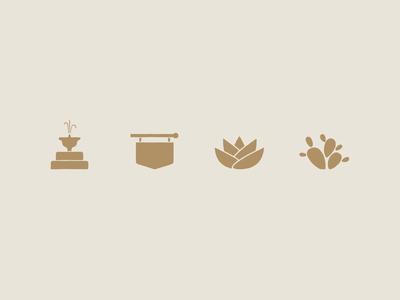 Community amenity icons for Waterridge