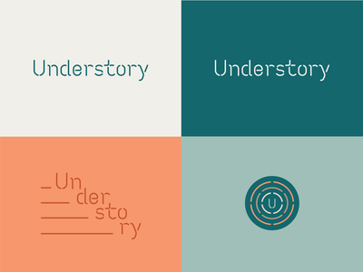 Killed concept for Understory tunnels underground stencil food hall houston logo custom type icon branding