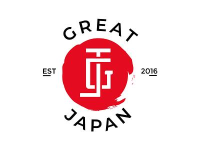 GREAT JAPAN - Logo design logodesignchallenge calligramm monogram monogramlogo handmadelogo orientallogo japanlogo logoinspirations branddesign brandidentity esportlogo japan footballlogo logoinspiration logoideas logodesign