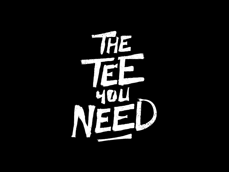 THE TEE YOU NEED | First Logo Proposal handmade logo letters dirty minimal black and white logo inspiration graffiti lettering handmade hand made lettering logo ideas logo design logo