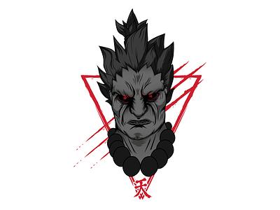 Akuma Bust illustration vector