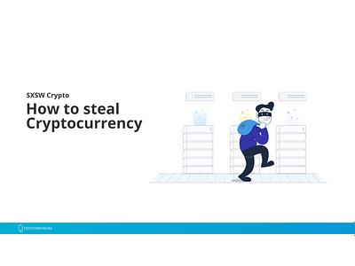 SXSW Crypto Presentation sxsw crypto blockchain cryptocurrency vector illustration