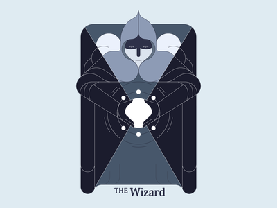 The Wizard lines wizard vector illustration