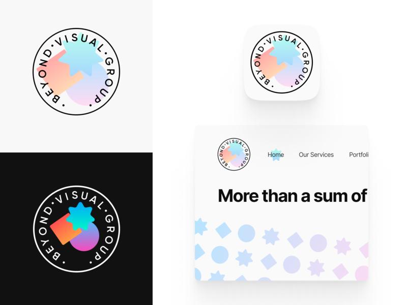Web Design Team Logo gradient circle star app icon website dark light abstract pattern logo branding