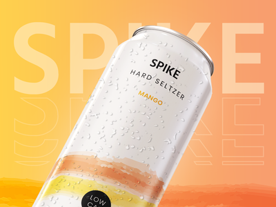 Spike Seltzer drink can label product packaging print branding
