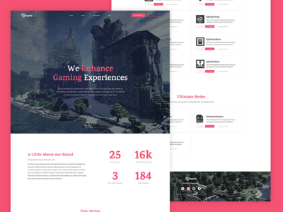 Gaming Company Landing Page