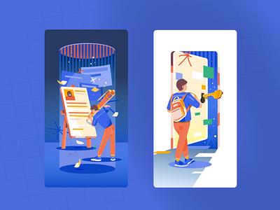 Login & Signup Page Illustration ui vector illustration