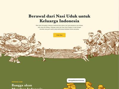 Landing Page Illustration for Indonesian Cuisine Restaurant drawing graphic design ui branding design illustration