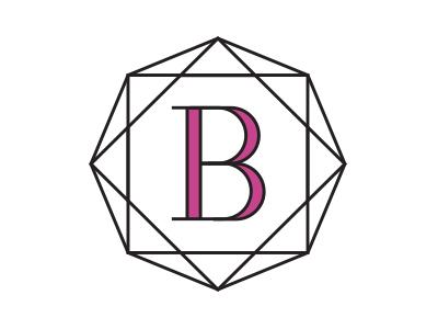 B&B logo diamond mark typography b