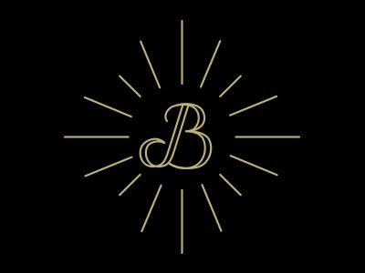 B&B Option #2 typography b gold line shine jewel