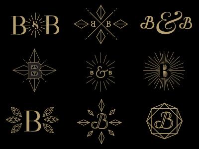 B&B First Round gem typography b bb gold