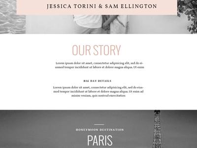 Wedding Registry Template #3 web typography layout registry wedding