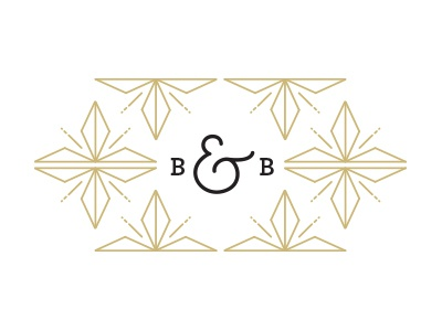 Bangles & Bungalows  logo diamond mark typography b origami pattern floral