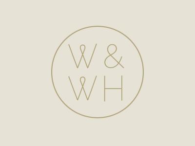 W&WH logo typography modern ww