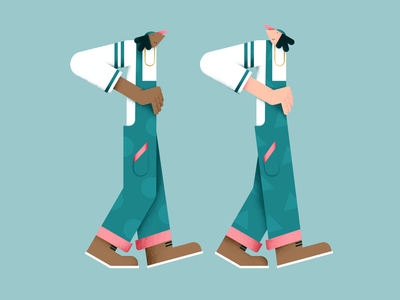 We are twins! pants boots twins pattern vector eleven textures people number illustration hands flat digital design color characterdesign 11