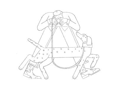 "Let's walk like the letter ""A"" boots pattern people vector illustration friends flat dog digital design color characterdesign pet animal letter 36daysoftype"