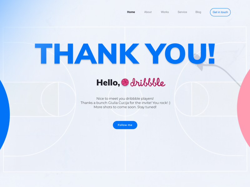 Thank you! website web dribbble dribbble invite uxdesigner uidesigner ux uiux ui webdesign first shot firstshot thank you thankyou thanks