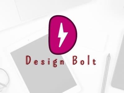 Design Bolt minimalist simple colorful identity logo