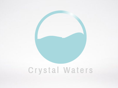 Crystal Waters minimalist simple colorful identity logo