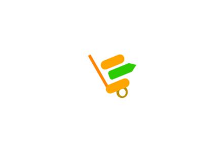 Beta Mart Logo vector illustration design colorful simple identity minimalist logo