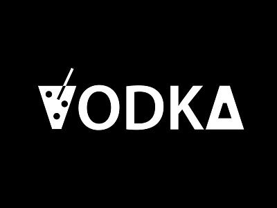 Vodka simple typography design white black identity minimalist