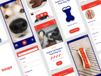 Boopz visual design fun doggos app design
