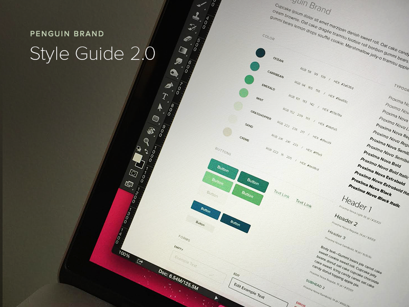 Style Guide Fun style guide color branding typography buttons ui ux web