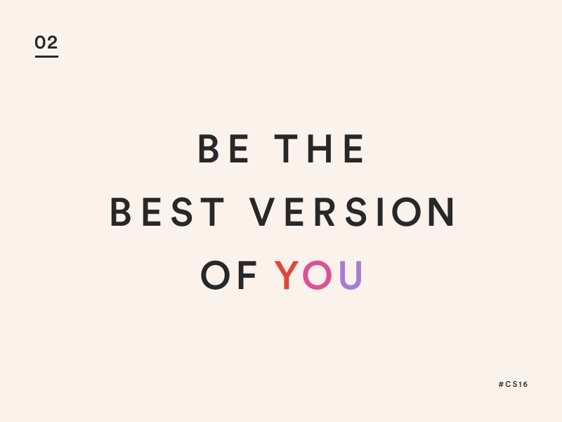 Be you circular motivation type typography