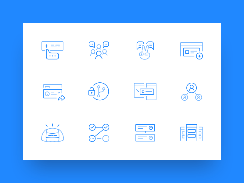 New icons protected branches developers pull request collaboration hubot project management code review icon