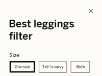 Leggings filter
