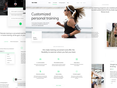 New Trio Fitness site training exercise site web design personal training