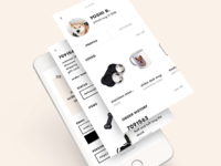 yoshi app shiba shibe mobile account profile products order receipt ux