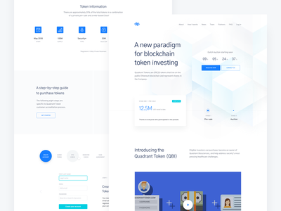 crypto landing page icons web healthcare token cryptocurrency blockchain