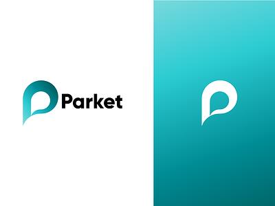 Parket clean type adobe illustrator icon minimal flat design vector branding logo
