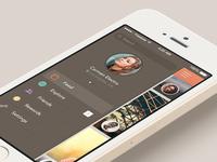 Freebee App - menu