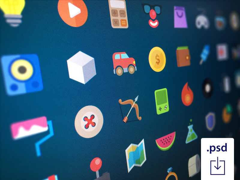 Free Flat Icons 2 flat icons studio4 deiv colors free psd photoshop vectors