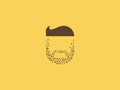 Personal personal beard deiv logo mark icon illustration hairs design details