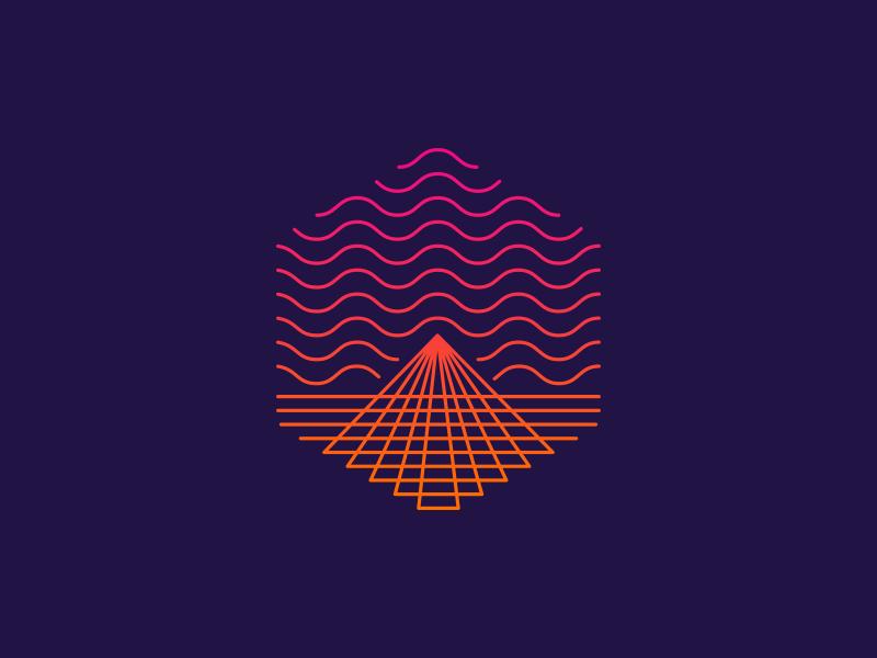 Sound Hill v2 sounds notes mountain logo flag mark illustration path music school deiv
