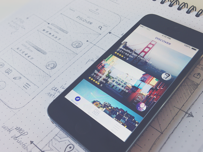 App wireframes in progress ... app iphone 5s feed newsfeed wireframes navigation sketch pencil deiv