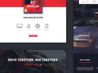 DRIVECLUB unofficial web design