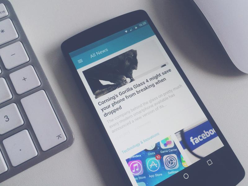 News Reader news app material design android nexus 5 ui feed deiv