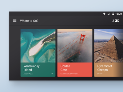 Where To Travel? airpano travel locations panorama places cards android material design lollipop feed tickets deiv