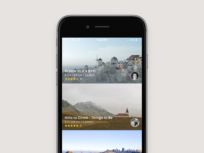 Discover city map authentic places locations deiv iphone 6 feed ui discover