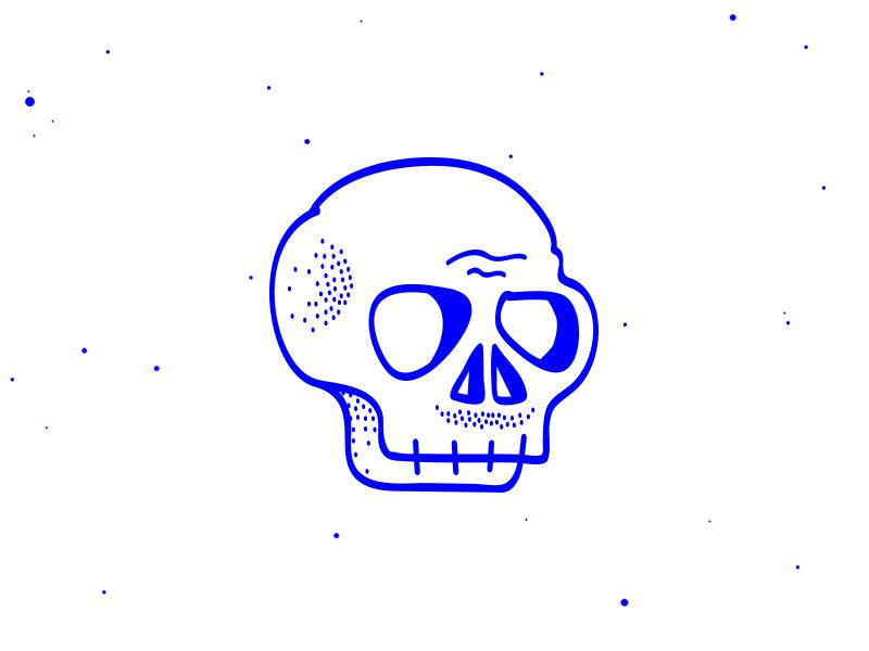 Artboard 1 deiv illustration mark logo personal bones skeleton mustache skull