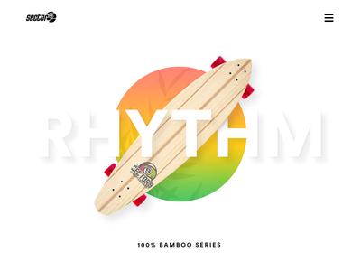 Sector9 rhythm hamburger deiv colors rasta bamboo landing web longboard sector9 rhythm