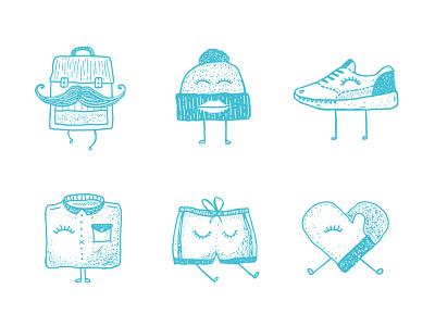 Vinted t-shirts illustrations social shop bag heart mustache clothes shoe t-shirts print shirts vinted