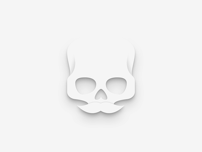 Back to Skull mustache beard illustration shadows paper vectors deiv personal logo skull icon
